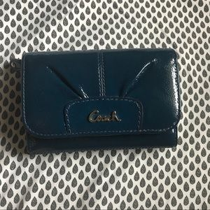 Cobalt Blue Leather Coach Wallet